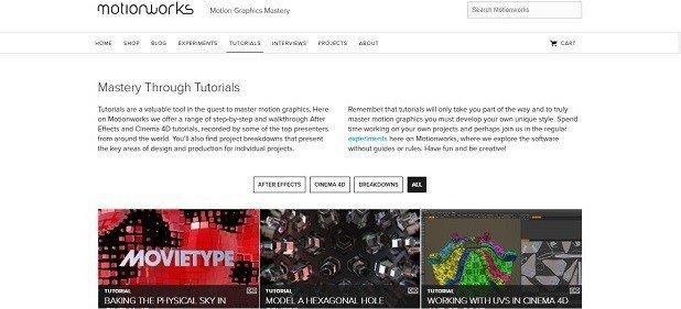 Top 12 Free Motion Graphics Tutorial Websites motionworks 6